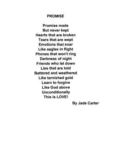 My Promise To You Poem by Anonymous - Poem Hunter  Love The Promise Poem